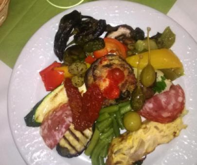 Alex's antipasti plate. Photo by A. Köpping.