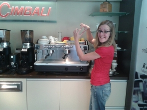 Maike Steuer wants an espresso machine for her intercultural cafe in Leipzig, HomeLE, still under construction, and has turned to crowd-funding via VisionBakety.