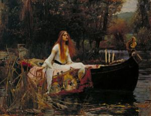 """""""Lady of Shalott,"""" Wikipedia. Image provided by C.R. Broerse."""