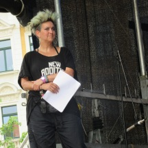 Maeshelle West-Davies, Inky Ensemble, at KUK! Festival at Leipzig's HTWK in June. Photo by A. Ribeiro.