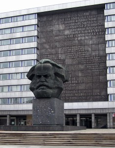 """""""Karl Marx memorial"""" by RobbyBer at the German language Wikipedia. Licensed under CC BY-SA 3.0 via Wikimedia Commons."""