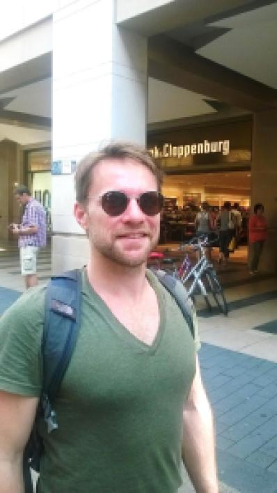 Nicholas Dietrich, South African PhD student at the University of Leipzig. Photo by A. Köpping.