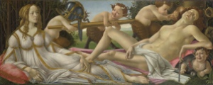 """""""Venus and Mars National Gallery"""" by Sandro Botticelli - National Gallery, UK. Licensed under Public Domain via Wikimedia Commons."""