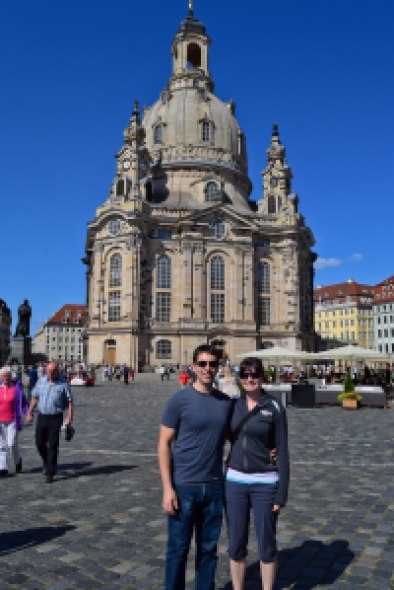 Becky and her husband Craig in Dresden. Photo courtesy of B. Markovitz.