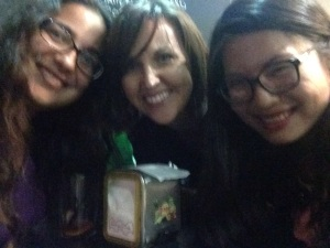 Jessica (center), Yu Fang (right) and I at one of our bar-hopping stops in Pamplona. Photo by A. Ribeiro.