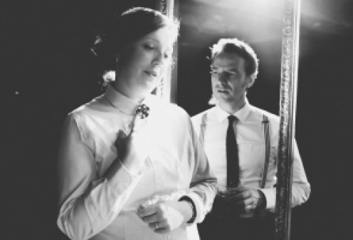 Nicola and Peter Seaton-Clarke in The mysterious Mr Love from English Theatre Leipzig