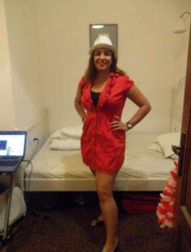 Me getting ready for a night out in Wroclaw, August 2012. Photo by a friend.