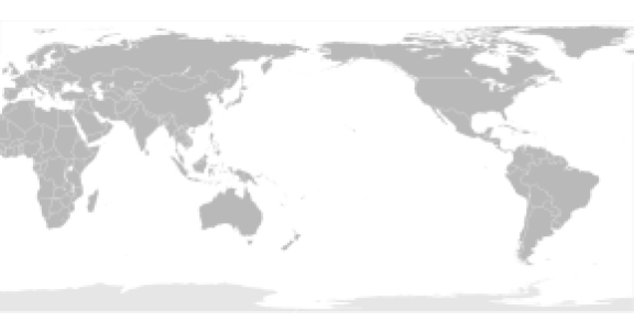 Pacific-centric map (more commonly used in East Asian countries and Australia)