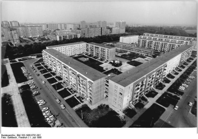 The familiar view on Leipzig's city centre in 1986. Photo courtesy of H. Köpping.