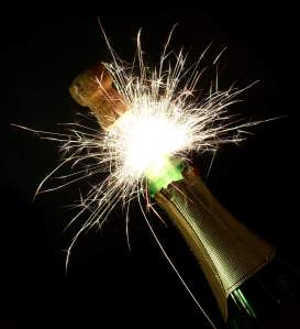 Fireworks of champagne