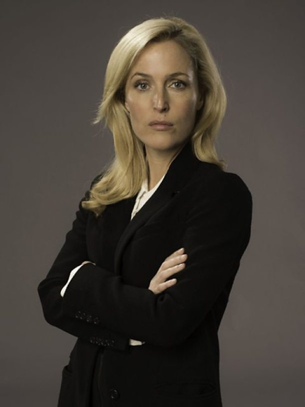 "Gillian Anderson stars in the British series ""The Fall,"" shown also on German TV, as Stella Gibson - an anti-romantic heroine. Photo licensed under Wikimedia Commons."
